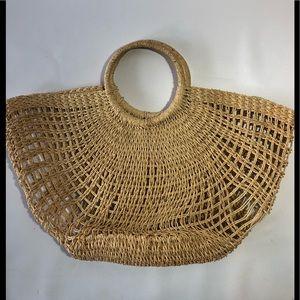 Vintage woven market purse